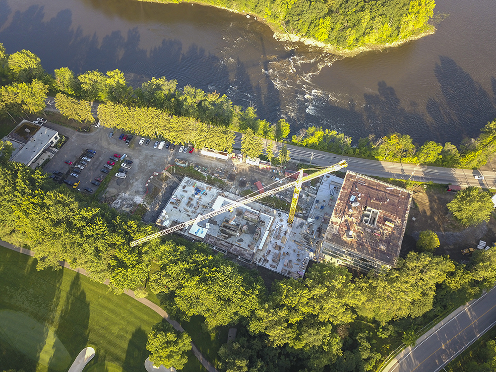 chantier aerial view