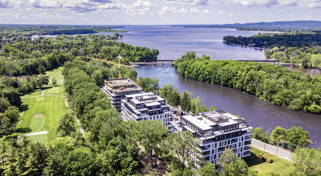L | L sur le Lac – Between Water and Greenery. Aerial view summer 2019